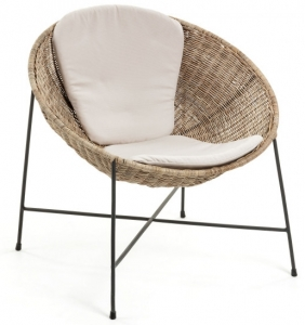 Кресло из ротанга с подушками Kathryn 79X69X77 CM