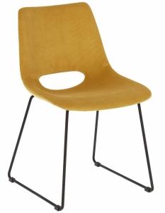 Мягкий стул с вельветовой обивкой Ziggy 49X55X78 CM горчичного цвета