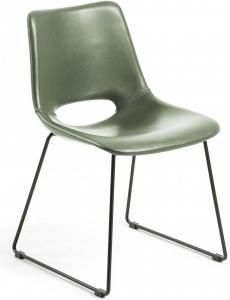Мягкий стул из искусственной кожи Ziggy 49X55X78 CM зелёный