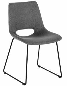 Мягкий стул Ziggy 49X55X78 CM серого цвета