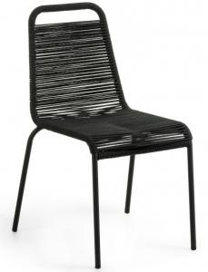 Стильный штабелируемый стул Lambton 56X59X84 CM чёрного цвета