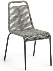 Стильный штабелируемый стул Lambton 56X59X84 CM серого цвета