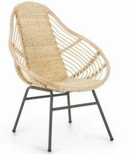 Кресло из стали и ротанга Collage 71X78X92 CM