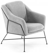 Элегантное кресло Brida 65X73X82 CM светло серое
