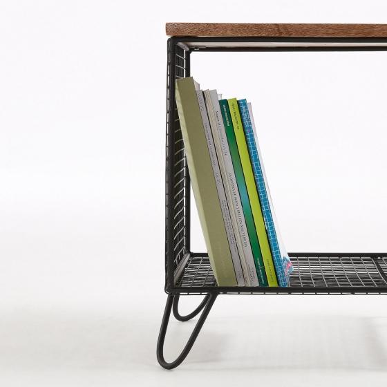 Прикроватный столик в стиле лофт Interni 38X38X48 CM 4