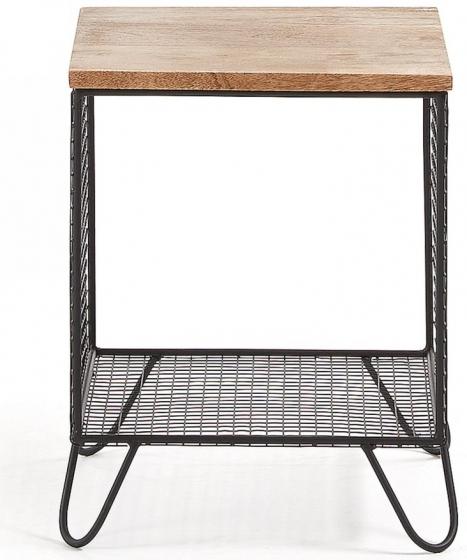 Прикроватный столик в стиле лофт Interni 38X38X48 CM 2