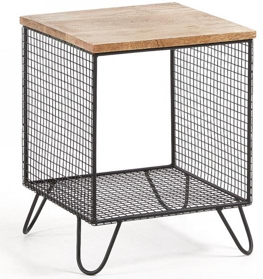 Прикроватный столик в стиле лофт Interni 38X38X48 CM 1