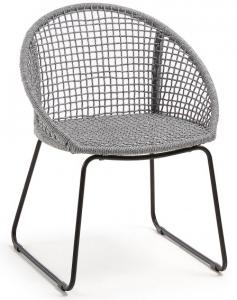 Стильный стул на стальной раме Sandrine 85X66X58 CM серого цвета