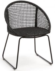 Стильный стул на стальной раме Sandrine 85X66X58 CM чёрный