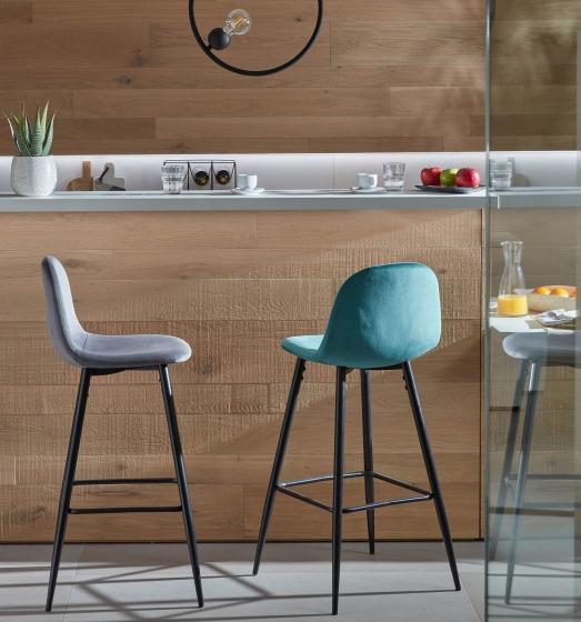 Барный стул Nilson 48X47X101 CM бирюзовый 8