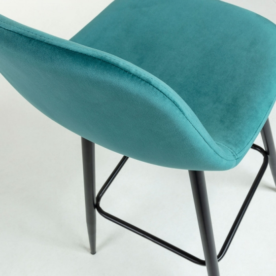 Барный стул Nilson 48X47X101 CM бирюзовый 4