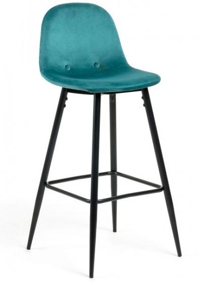 Барный стул Nilson 48X47X101 CM бирюзовый 1