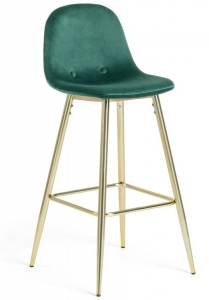 Барный стул Nilson 48X47X101 CM зелёный