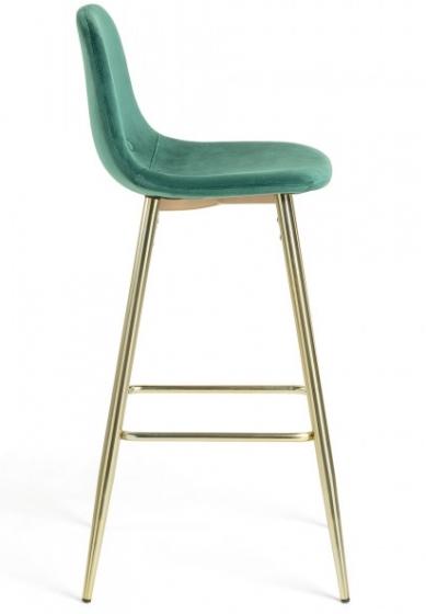 Барный стул Nilson 48X47X101 CM зелёный 2