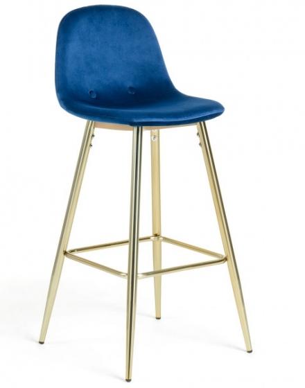 Барный стул Nilson 48X47X101 CM синий 1