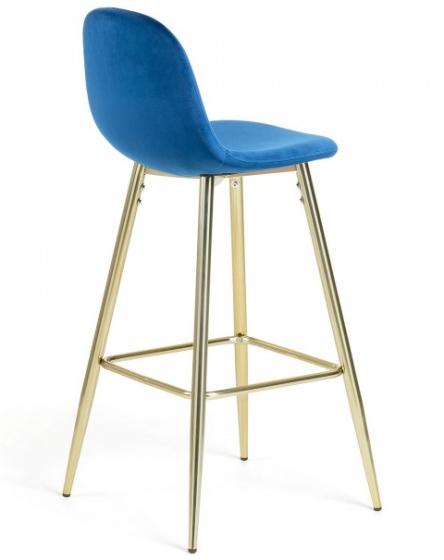 Барный стул Nilson 48X47X101 CM синий 3