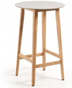 Барный стол и эвкалипта и полибетона Georgette 70X70X102 CM