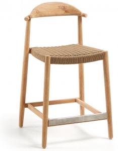 Полубарный стул на каркасе из эвкалипта Glynis 54X54X94 CM
