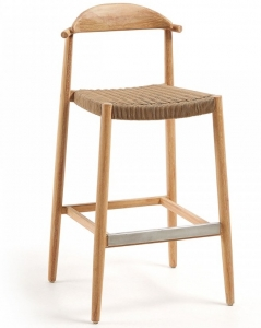 Барный стул на каркасе из эвкалипта Glynis 54X54X109 CM