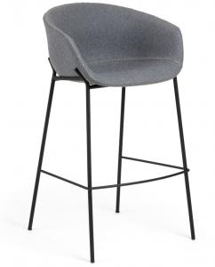 Барный стул Yvette 60X54X99 CM светло-серый