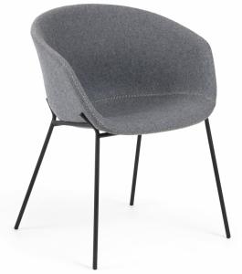 Кресло Yvette 60X54X76 CM светло-серое