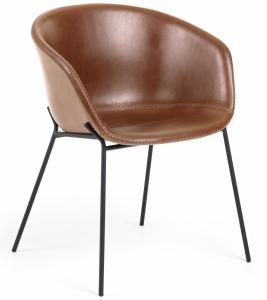 Кресло Yvette 60X54X76 CM коричневое