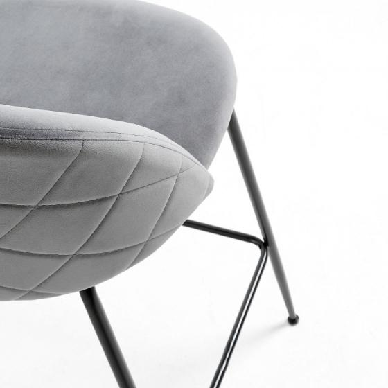 Барный стул Mystere 55X50X108 CM серый 4