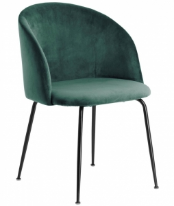 Лаконичный стул Laudelina 57X53X81 CM зелёного цвета