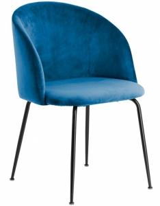 Лаконичный стул Laudelina 57X53X81 CM синего цвета