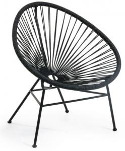 Кресло Samantha 71X75X84 CM чёрное