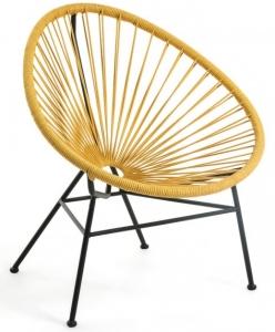 Кресло Samantha 71X75X84 CM горчичного цвета