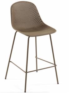 Полубарный стул Quinby 44X49X97 CM бежевого цвета