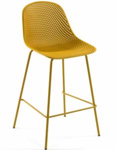 Полубарный стул Quinby 44X49X97 CM жёлтого цвета