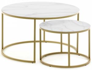 Комплект столиков Leonor 80X80X46 / 50X50X36 CM