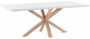 Стол из ДСП и HPL пластика New Argo 160X100X78 CM ножки из стали покраска под дуб