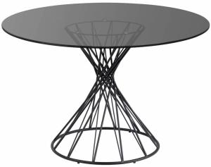 Круглый обеденный стол Niut 120X120X76 CM с стеклянной столешницей