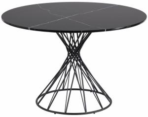 Круглый обеденный стол Niut 120X120X76 CM с мраморной столешницей