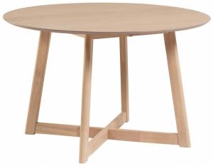 Раскладной стол с дубовым шпоном Maryse 70-120X120X75 CM