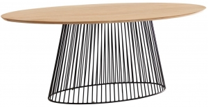 Овальный обеденный стол Leska 200X110X76 CM
