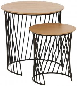 Набор вспомогательных столиков Leska 35X35X37 / 50X50X50 CM