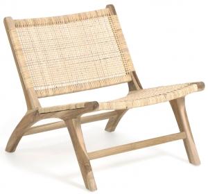 Кресло из тика и ротанга Beida 65X75X68 CM