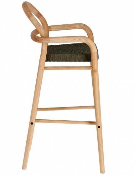 Барный стул из эвкалипта Sheryl 54X56X110 CM зелёного цвета 3
