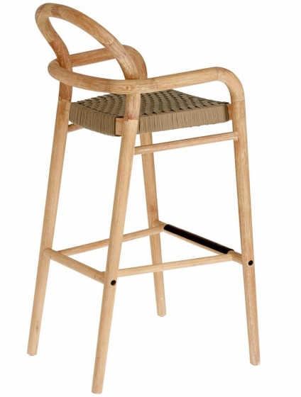 Барный стул из эвкалипта Sheryl 54X56X110 CM бежевого цвета 2