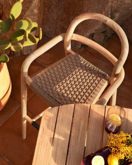 Барный стул из эвкалипта Sheryl 54X56X110 CM бежевого цвета 5