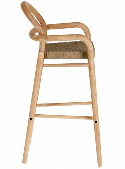 Барный стул из эвкалипта Sheryl 54X56X110 CM бежевого цвета 3