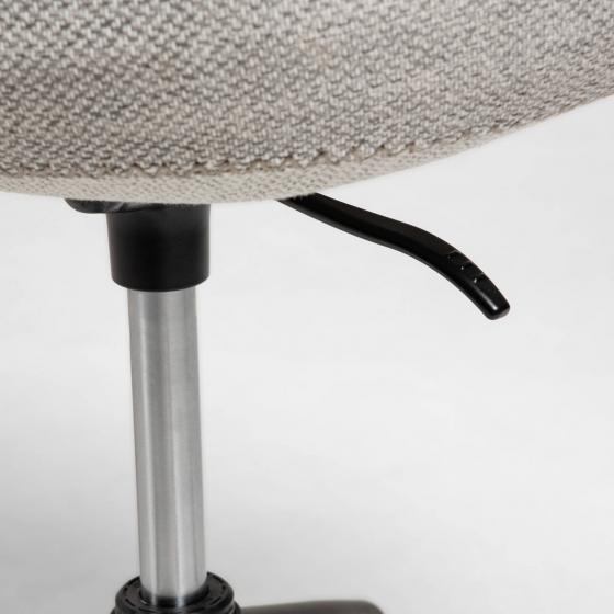 Офисное кресло Yvette 72X72X76-88 CM светло-серого цвета 5