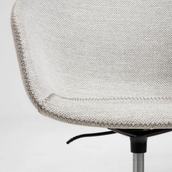 Офисное кресло Yvette 72X72X76-88 CM светло-серого цвета 3