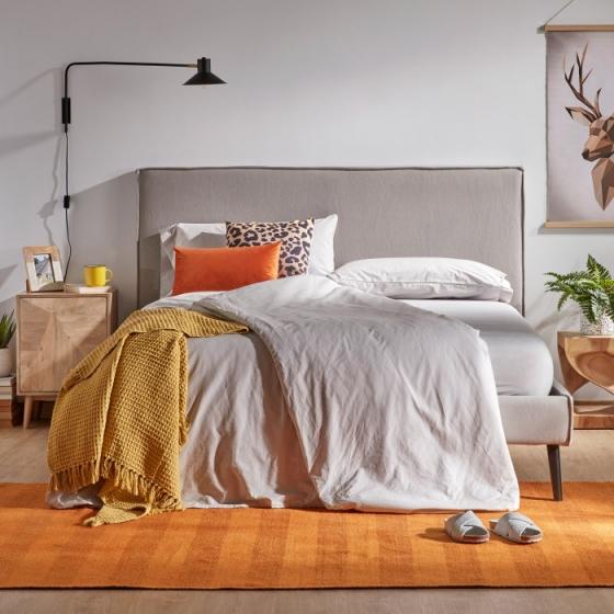 Каркас кровати Venla 140X190 CM серого цвета 6