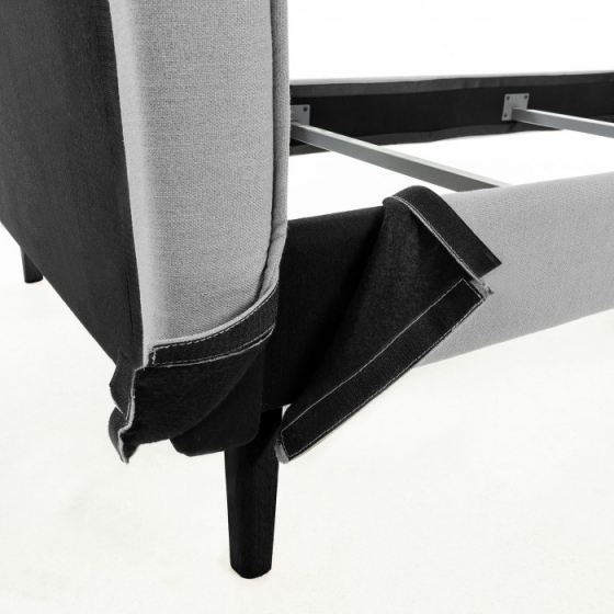 Каркас кровати Venla 140X190 CM серого цвета 5