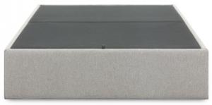 Кровать с отсеком для хранения Matter 150X190X36 CM серого цвета